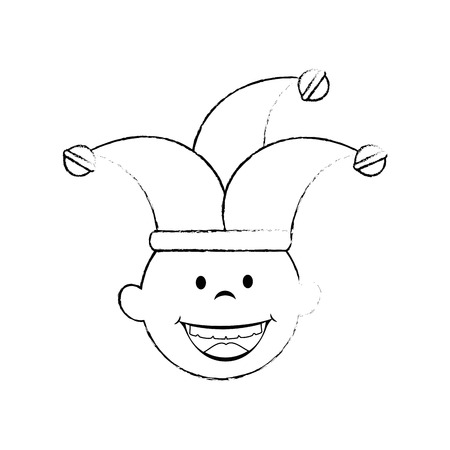 comedy: Jester clown cartoon icon vector illustration graphic design