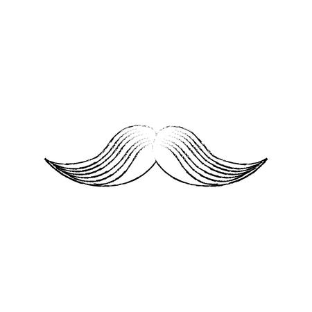old items: Vintage gentleman mustache icon vector illustration graphic design Illustration