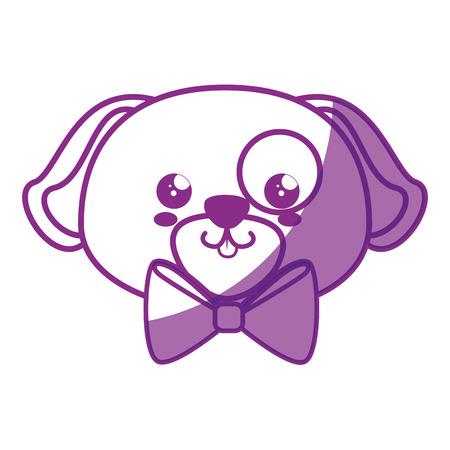 Dog kawaii cartoon icon vector illustration graphic design