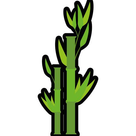 Bamboo japanese plant icon vector illustration graphic design