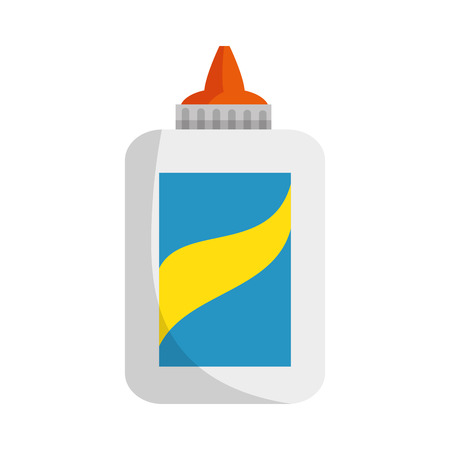 Bottle of glue icon vector illustration graphic design