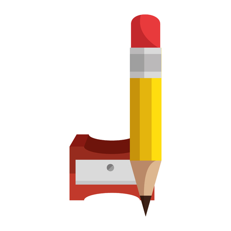 Pencil sharpener symbool pictogram vector illustratie grafisch ontwerp