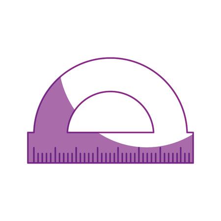 School ruler isolated icon vector illustration graphic design Illustration