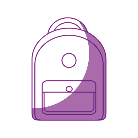 School backpack isolated icon vector illustration graphic design Ilustração
