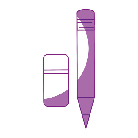 Wooden pencil isolated icon vector illustration graphic design.