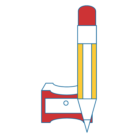 Sharpener with pencil icon vector illustration graphic design.