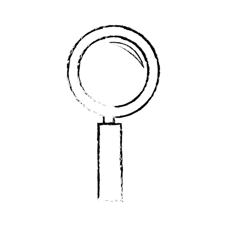Magnifying glass lupe icon vector illustration graphic design.