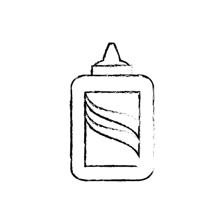 Bottle of glue icon vector illustration graphic design.