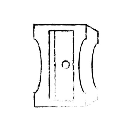 Ikonenvektor-Illustrationsgrafikdesign des Bleistiftspitzers lokalisiertes. Standard-Bild - 79340854
