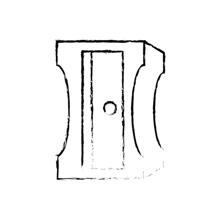 Pencil sharpener isolated icon vector illustration graphic design.