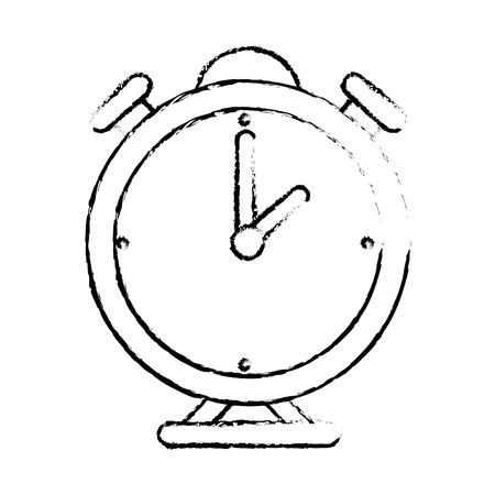 Clock bells alarm icon vector illustration graphic design.
