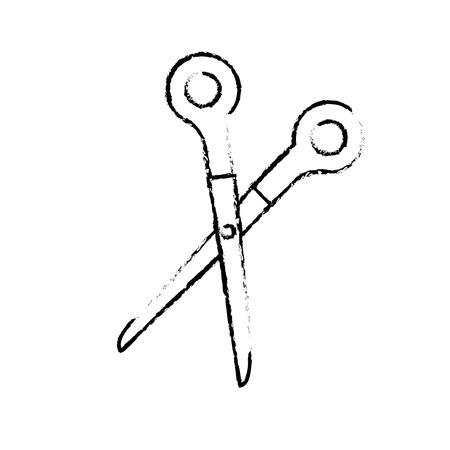 School scissors isolated icon vector illustration graphic design.