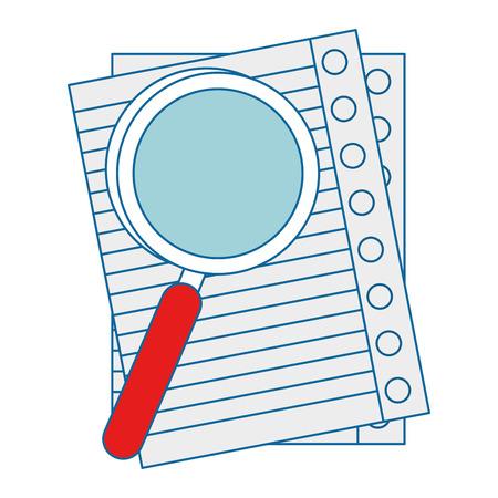 チェック シートのアイコン ベクトル イラスト グラフィック デザイン ルーペ。  イラスト・ベクター素材