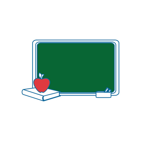 Blackboard with books icon vector illustration graphic design.