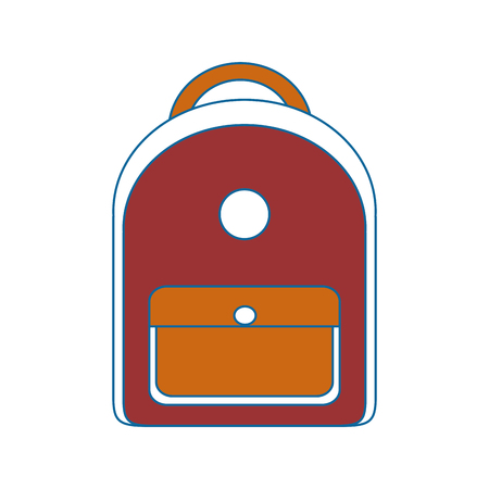 School backpack isolated icon vector illustration graphic design.