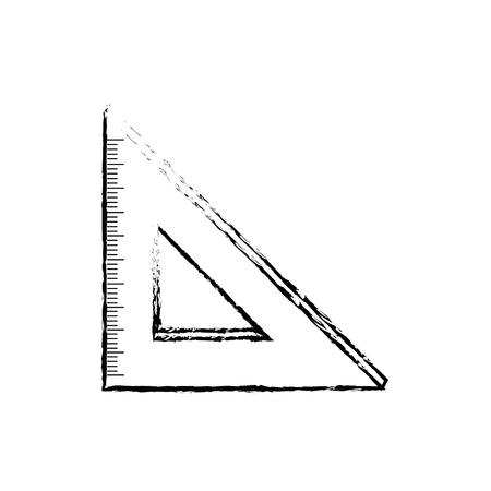 School ruler isolated icon vector illustration graphic design.