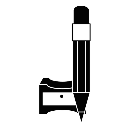 Sharpener with pencil icon vector illustration graphic design Çizim