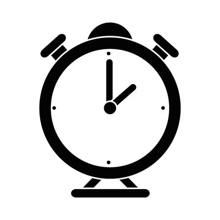 Clock bells alarm icon vector illustration graphic design