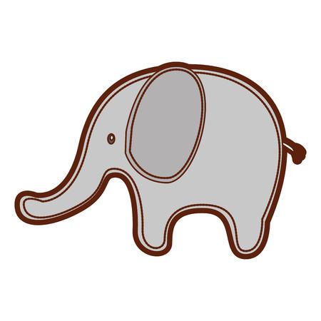 Schattige olifant geïsoleerd pictogram vector illustratie ontwerp
