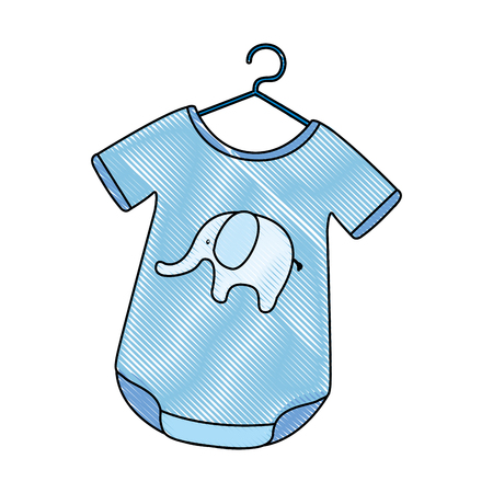 Baby outfit with elephant vector illustration design