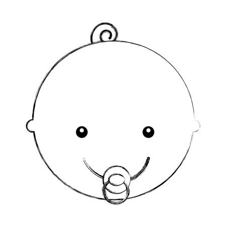 head cute baby icon vector illustration design