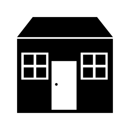 simple life: home house isolated icon vector illustration design