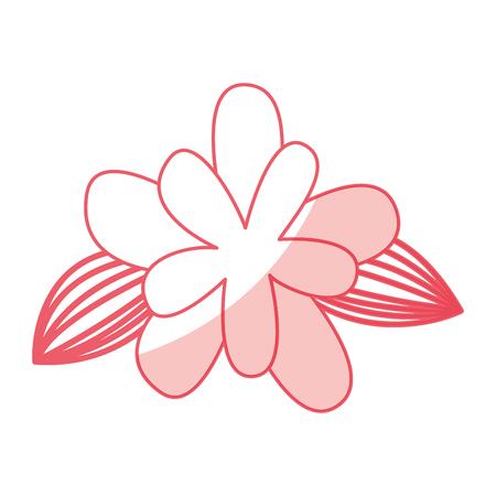 cute flower drawing decorative vector illustration design