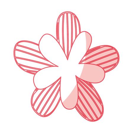 귀여운 꽃 그리기 장식 벡터 일러스트 디자인 일러스트