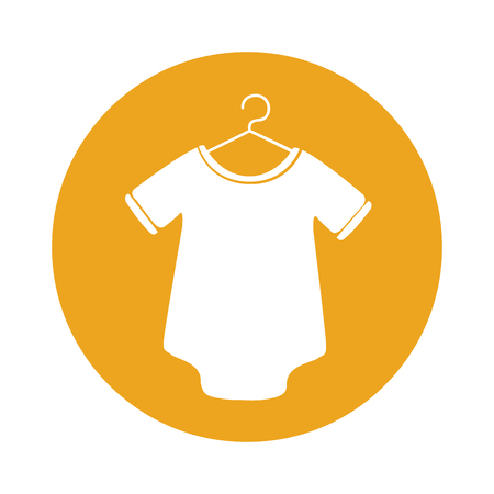 cute Baby outfit icon vector illustration design