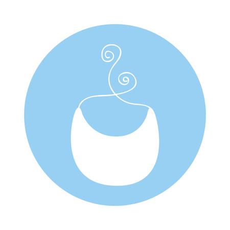 diseño lindo del ejemplo del vector del icono del babero del bebé