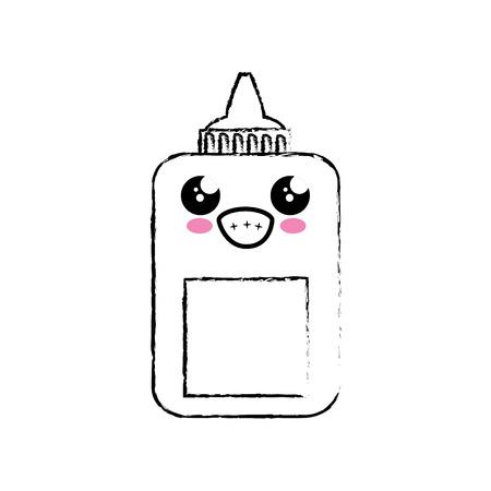 lijm fles pictogram op witte achtergrond. vectorillustratie