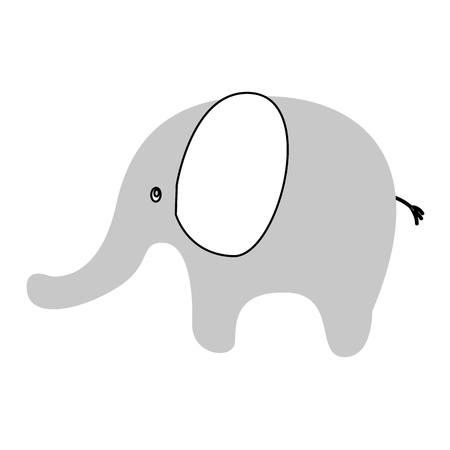 funny pictures: cute elephant isolated icon vector illustration design