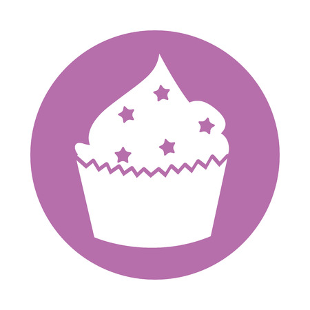 cupcakes isolated: delicious cupcake celebration icon vector illustration design
