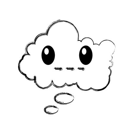 silent: speech bubble silent comic character vector illustration design