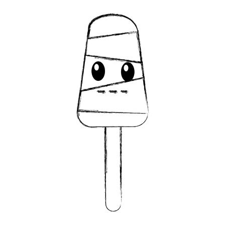 delicious Popsicle comic character vector illustration design