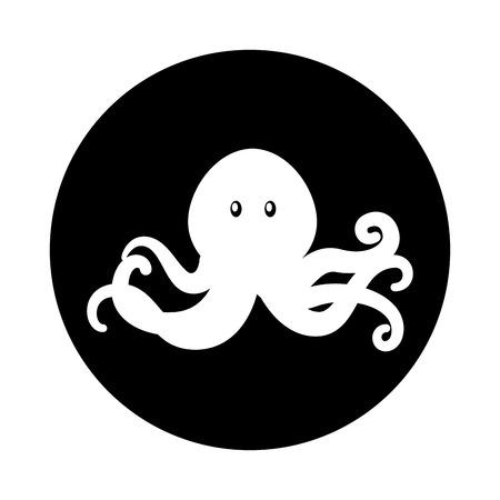 Octopus oceaan het leven vectorillustratie grafisch ontwerp