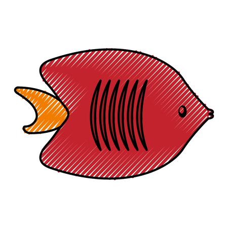 sea fish ocean life vector illustration graphic design Illustration