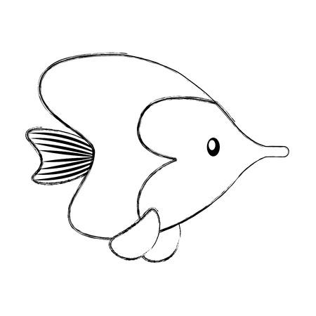 simple life: sea fish ocean life vector illustration graphic design Illustration