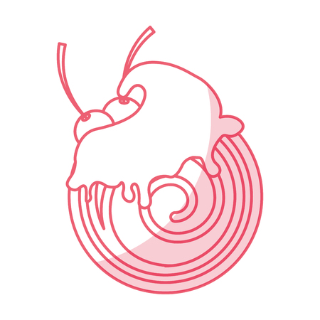 Chocolat roll cake icône illustration vectorielle design graphique Banque d'images - 79348807