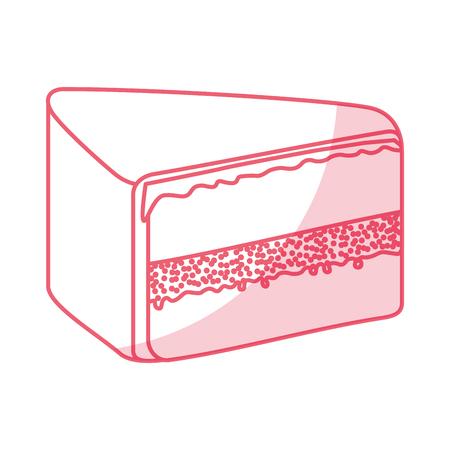 yummy sweet cake slide piece vector illustration graphic design Illustration
