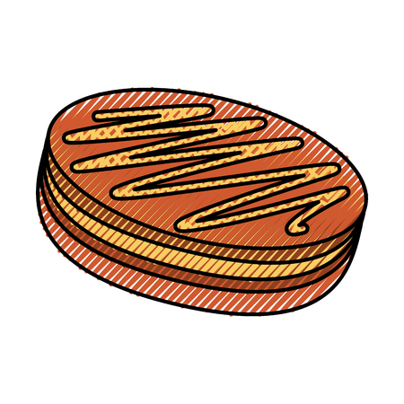 sweet baked cake cartoon vector illustration graphic design