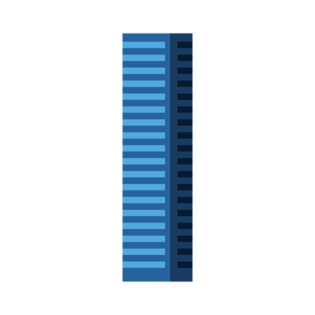 Blue tall building cartoon vector graphic design