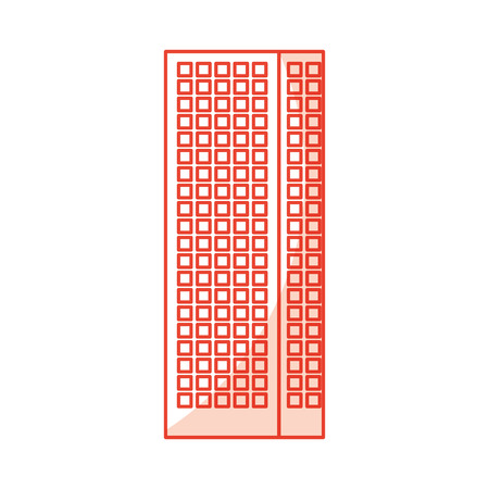 shadow red tall building cartoon vector graphic design
