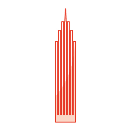 sahdow red skyscraper cartoon vector graphic design
