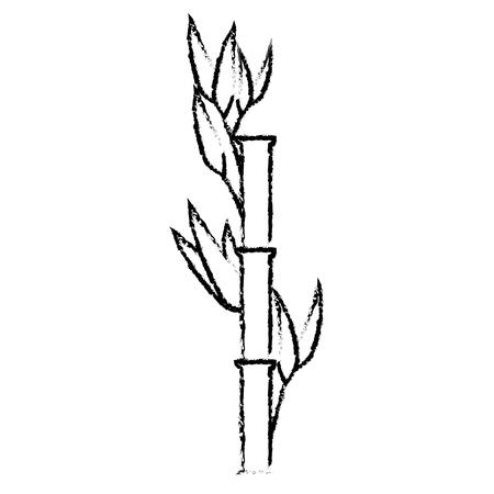 bamboo plant icon over white background. vector illustration Illustration