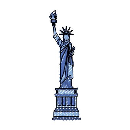 青い落書き自由漫画ベクトル グラフィック デザイン像  イラスト・ベクター素材
