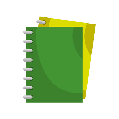 Notebook icon over white background. Colorful design vector illustration