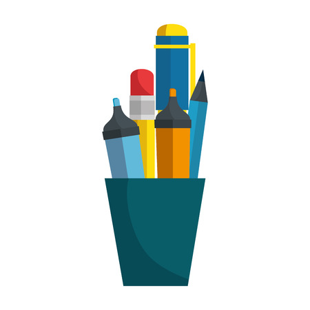 pen utensil icon over white background vector illustration Stok Fotoğraf - 79415044