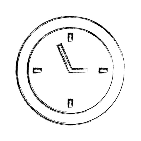 Sketch draw clock cartoon vector graphic design Illustration