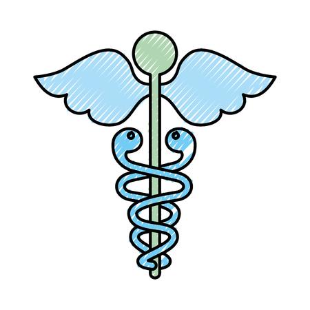 scribble blue medical symbol vector graphic design Illustration